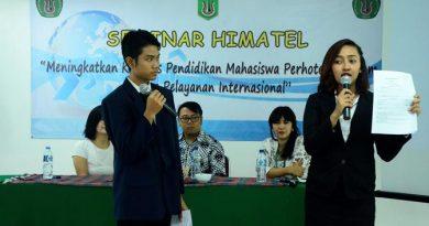 seminar yang diselenggarakan oleh Himpunan Mahasiswa Perhotelan Universitas Nasional
