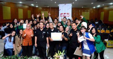 Kemeriahan Kampus Keren ANTV bekerjasama Dengan Universitas Nasional, di Ruang Aula Blok 1 Universitas Nasional, (19/10).