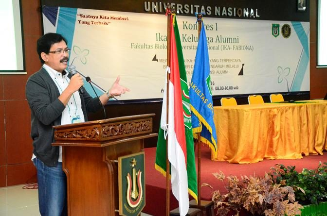 Pembukaan Kongres 1 IKA Fabiona UNAS dilakukan di Ruang Aula Blok 1 Universitas Nasional, Sabtu (15/10)