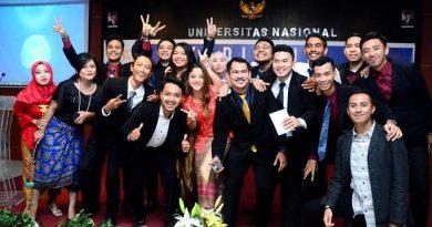 Keceriaan Calon Wisudawan FISIP UNAS dalam acara Yudisium FISIP, Sabtu (1/10)