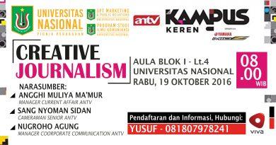 CREATIVE JOURNALISM (Kampus Keren UNAS - ANTV)