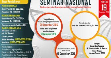 Seminar Biodiversitas UNAS 2016