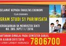Pembukaan Program Studi S1 Pariwisata