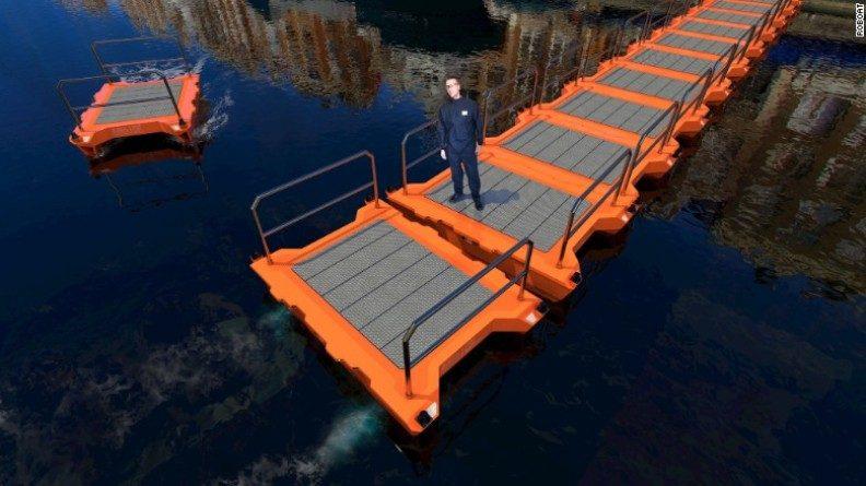 """""""Roboat"""" yang Bisa Dijadikan Jembatan dan Bergerak Sendiri"""