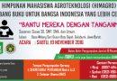 SUMBANG BUKU UNTUK BANGSA INDONESIA YANG LEBIH CERDAS
