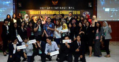 Kegiatan mahasiswa HI UNAS mengadakan Simulasi Diplomasi Internasional dengan menghadirkan 18 negara peserta delegasi. Jum'at (11/11).
