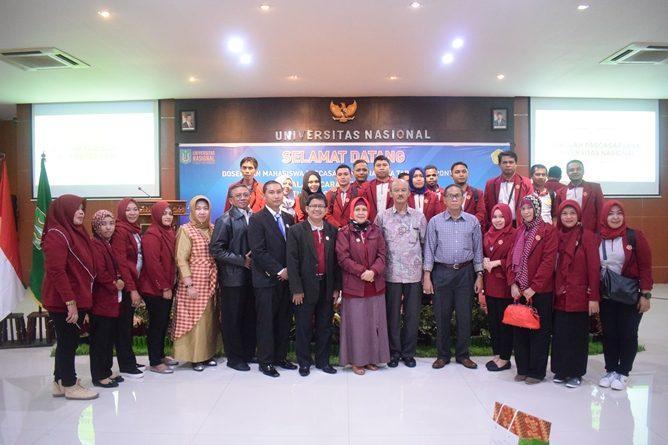 Foto Bersama Mahasiswa Pascasarjana STIA Bina Taruna Gorontalo dalan Studi Banding di Universitas Nasional.