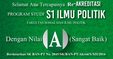 "Pencapaian Akreditasi ""A"" Prodi S1 Ilmu Politik (UNIVERSITAS NASIONAL)"