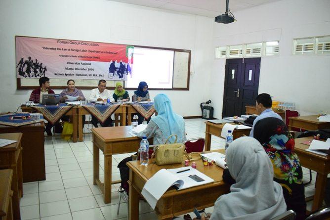 FGD Reformasi Hukum Tenaga Kerja Asing di Indonesia