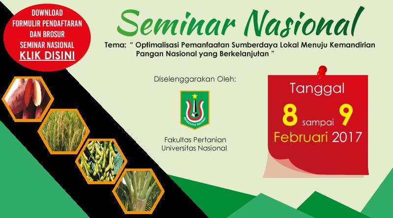 Brosur Seminar Nasional (FAPERTA)