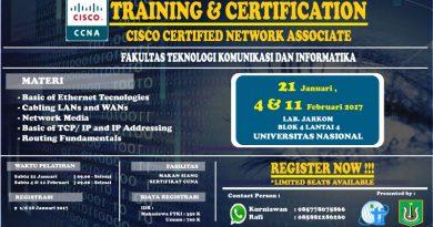 Pelatihan dan Sertifikasi CISCO CCNA I