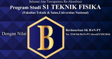 Re-Akreditasi S1 TEKNIK FISIKA (Universitas Nasional)