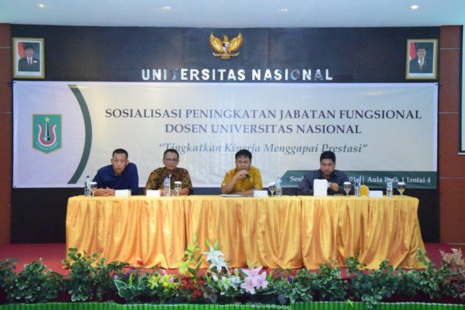 Sosialisasi Peningkatan Jabatan Fungsional Dosen UNAS