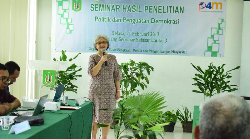 Seminar Hasil Penelitian P4M UNAS Dalam Rangka Politik dan Penguatan Demokrasi