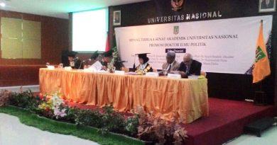 Sidang Terbuka Senat Akademik Universitas Nasional Promosi Doktor Ilmu Politik