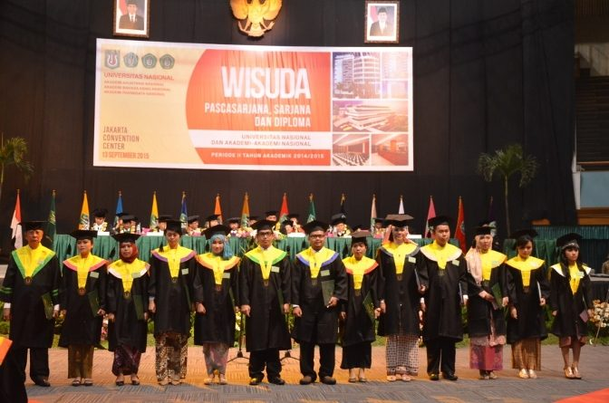 Parade Wisuda Universitas Nasional Periode 2 Tahun 2015