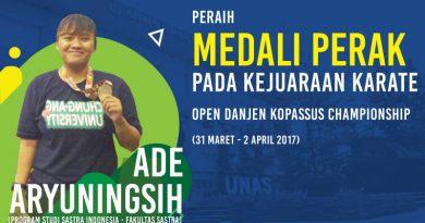 Ade Aryuningsih Arifin Kembali Raih Medali dalam Kejuaraan Karate Open 2017