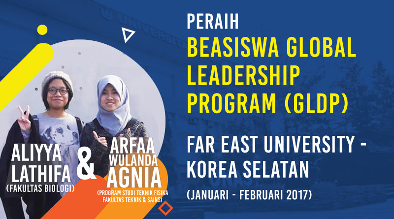 Aliyya dan Arfaa Meraih Beasiswa Global Leadership Program (GLDP)