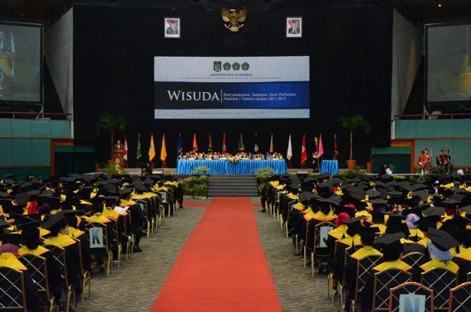 Gelaran Wisuda Universitas Nasional Periode 1 2012