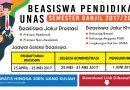 BEASISWA KELAS REGULER UNIVERSITAS NASIONAL 2017/2018