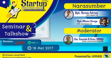 "Seminar dan Talkshow ""STARTUP WEB AND BUSINESS DEVELOPMENT"""
