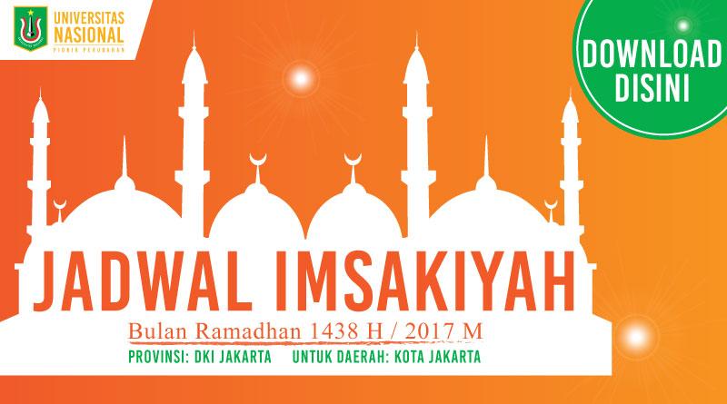JADWAL IMSAKIYAH Bulan Ramadhan 1438 H / 2017 M