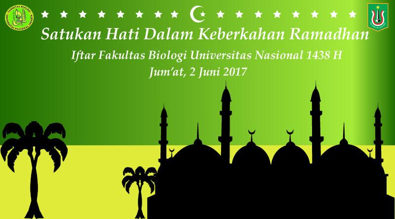 Iftar Fakultas Biologi Universitas Nasional 1438 H