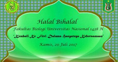 Halal Bihalal Fakultas Biologi UNAS