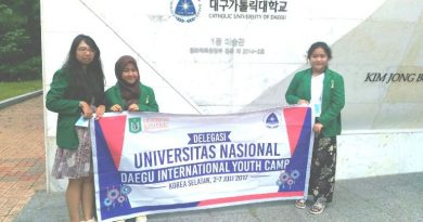 Kemeriahan opening ceremony Daegu International Youth Camp 2017