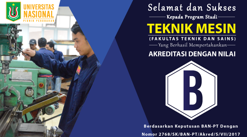 Akreditasi Program Studi Teknik Mesin UNAS