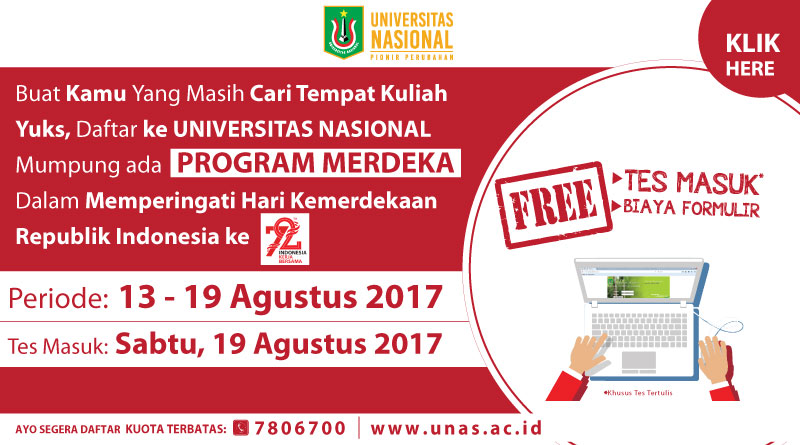 PROGRAM MERDEKA UNAS (HUT REPUBLIK INDONESIA KE 72)