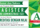 Akreditasi Magister Ilmu Administrasi (S2) UNAS 2017