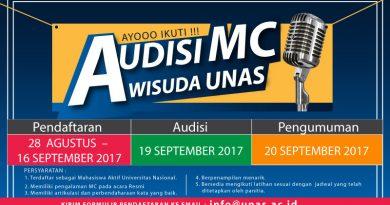 Audisi MC Wisuda Periode II Tahun 2016-2017