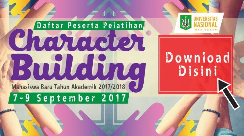 Daftar Peserta Pelatihan Character Building 2017