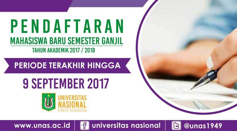 Periode Terakhir Pendaftaran Mahasiswa Baru 2017
