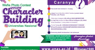 Wefie Photo Contest Pelatihan Character Building