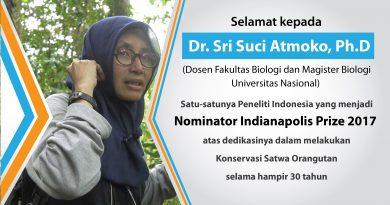 Dr. Sri Suci Atmoko, Ph.D terpilih sebagai Nominator Indianapolis 2017