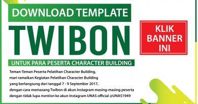 Template Twibon untuk Pelatihan Character Building