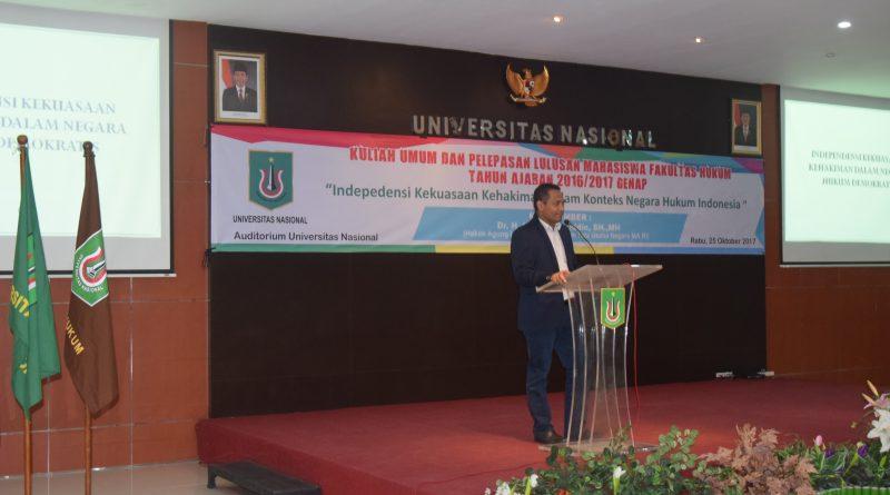 Yudisium Fakultas Hukum,  Ajak Para Wisudawan Resapi Makna Independensi Hukum yang ada di Indonesia