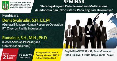 SEMINAR (Magister Ilmu Hukum, Universitas Nasional)