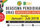 BEASISWA PENDIDIKAN UNAS (SEMESTER GANJIL 2018/2019)