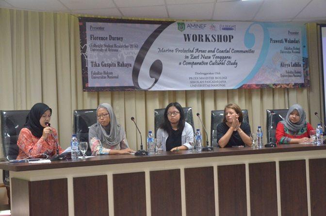 Kolaborasi dengan Peneliti Amerika, Magister Biologi Ajak Peserta Cermati Kondisi Wilayah Pesisir dan Bawah Laut di Nusa Tenggara Barat.