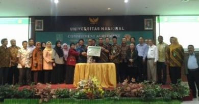 UNIVERSITAS NASIONAL SATUKAN KOMITMEN WUJUDKAN VISI SEBAGAI 10 UNIVERSITAS SWASTA TERBAIK DI INDONESIA