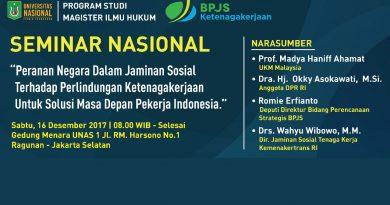 Seminar Nasional Program Studi Magister Ilmu Hukum UNAS