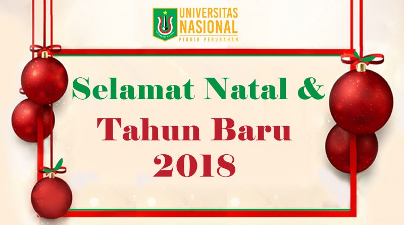 SELAMAT NATAL & TAHUN BARU 2018