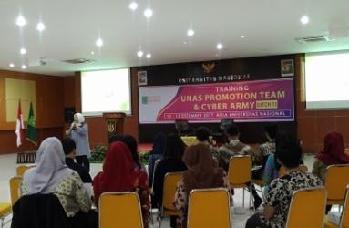 Mahasiswa Ikut Pelatihan Promosi dan Cyber Army