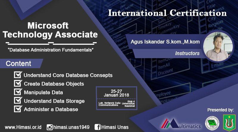 Microsoft Technologi Associate (Database Administration Fundamentals)