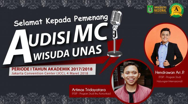 PEMENANG AUDISI MC (Master of Ceremonies) WISUDA UNAS 2018