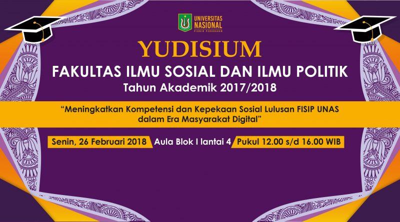 YUDISIUM FISIP UNAS 2018