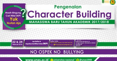 Pengenalan Character Building Mahasiswa Baru Tahun Akademik 2017/2018